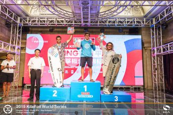 Teenage duo seize three consecutive tour stop victories apiece at KiteFoil World Series in China